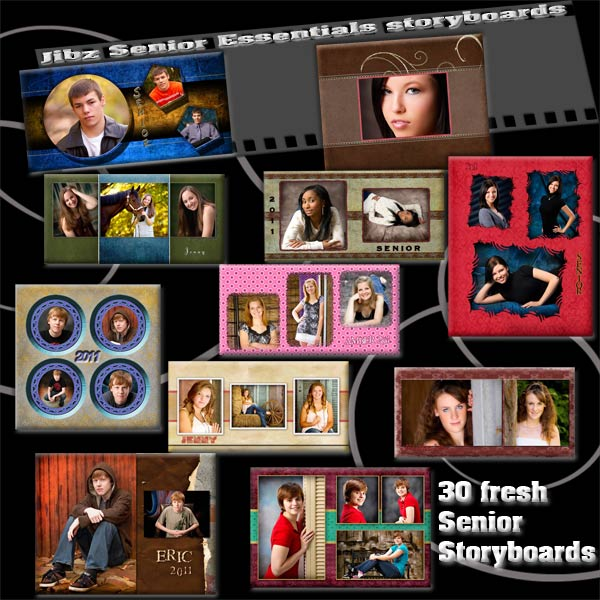 Jibz PHOTO TEMPLATES for senior photographers