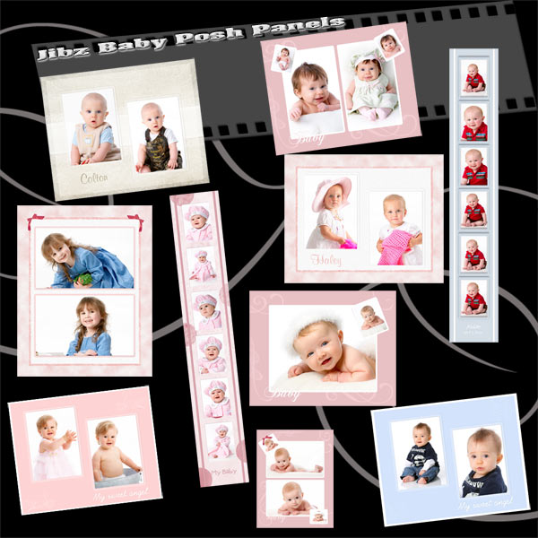 Jibz easy load baby planners Photopshop template set