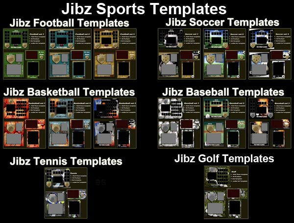 Jibz easy load 56 sports templates for photographers for Elements and Photoshop